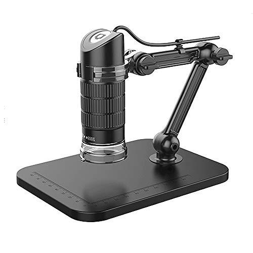 YUDIYUDI-EM Kinder Educational Mikroskope, 360 Grad-Umdrehung USB Digital-Mikroskop 1000x Vergrößerung Endoskop 8 LED-Mikroskop USB-Digital-Minikamera-Mikroskop mit Faltbarer Standplatz