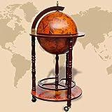 SENLUOWX Bar Globe Terrestre mapamundi y Madera Maciza