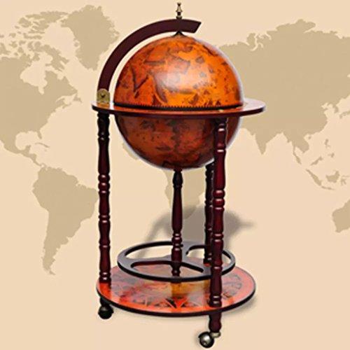 Lingjiushopping Minibar in Form eines Globus aus Holz, Durchmesser des Globus: 36 cm, Schränke für Wein und Spirituosen
