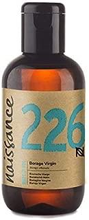 Naissance Virgin Borage (Starflower) Oil 3.4 fl oz /100ml - Naturally High in GLA (Gamma-Linolenic Acid) Pure, UK Certified Organic, PA Free, Cold Pressed & Vegan - Balancing & Nourishing Moisturizer
