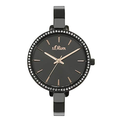 s.Oliver Damen Analog Quarz Uhr mit Edelstahl Armband SO-4209-MQ
