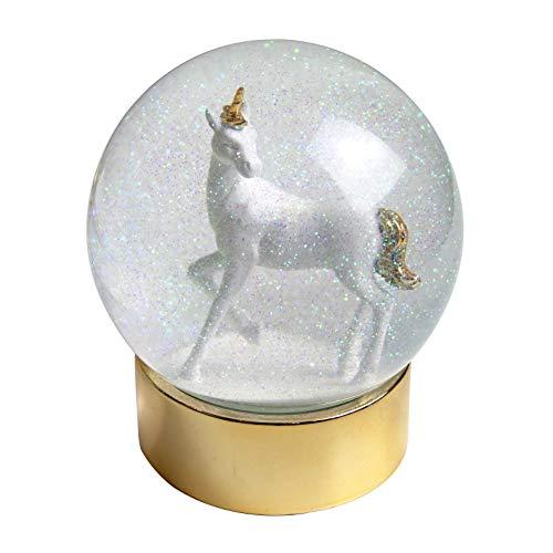 Talking Tables nos Encanta licornes Licorne Snowglobe pour fête d'enfants, cadeaux et décoration pour la maison,