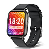 Smart Watch, 1.69 Inch Fitness Tracker with 24 Sports Modes, Blood Oxygen, Heart Rate Monitor and Sleep Tracking, Calorie Step Counter Activity Tracker, IP68 Waterproof Smartwatch for Men Women