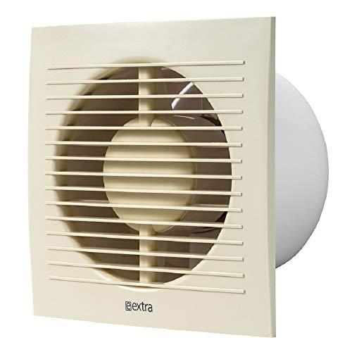 Ø 125 mm ventilator met timer - crème - badkamerventilator ventilator wandventilator wC badkamer keuken stille kleine ruimteventilator