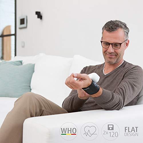 medisana BW 335 tensiomètre de poignet, affichage de l'arythmie, pour une mesure précise de la pression sanguine et du pouls avec fonction de mémoire