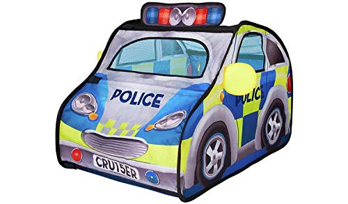 Chad Valley Police Car Pop Up Play Tent with Siren and Hat