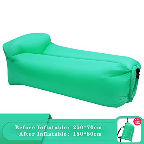 ZCXBHD Opblaasbare ligstoel, ideaal voor bank, bed, matras voor achtertuin, lak, strand, reizen, kamperen, wandelen, backpacking, PIC-nic en festival