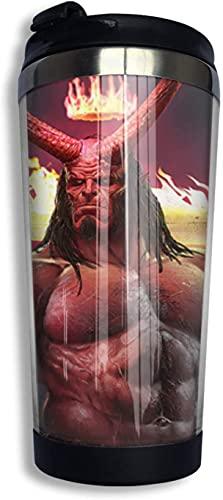 Hellboy - Taza de café con tapa, 13 onzas para bebidas de hielo y bebidas calientes