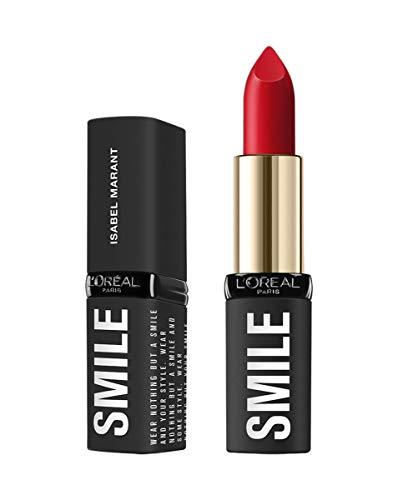 L'Oréal Paris Isabel Marant SMILE LIPSTICK Palais Royal Field, pflegender Lippenstift für volle und gesunde Lippen, 4 g