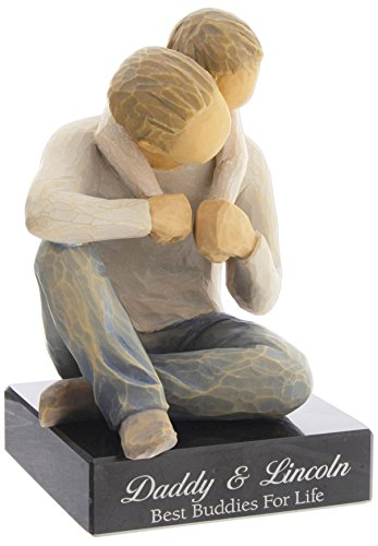 DEMDACO Willow Tree That's My Dad Figurine with Personalized Engraved Marble Base-Disclaimer Engraved Marble Bases Will Show marbeling and Lines