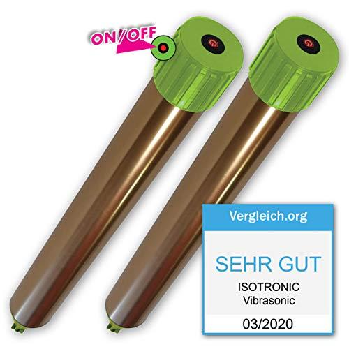 ISOTRONIC Maulwurfabwehr Vibrasonic mit ON/Off Schalter 2er Set NEU mit Vibrationsmotor batteriebetrieben Wühlmausfrei Wühlmausschreck...