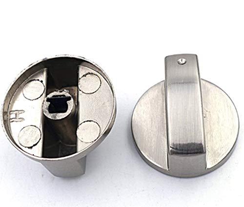 Voarge 6 Stück Gasheizstrahler Drehknopf Gasheizer, Zündschalter, Eingebauter Drehknopf aus gebürstetem Metall