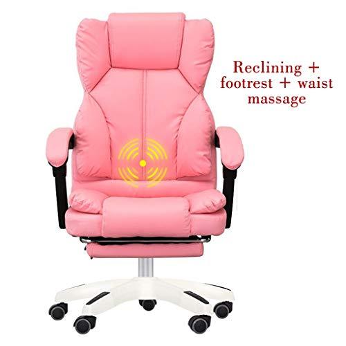HYJBGGH Schreibtischstühle Home Office Stuhl Gute Leder Ergonomischen Stuhl Massage Computer Spiel Stuhl Schreibtisch Computer StuhlTragen...