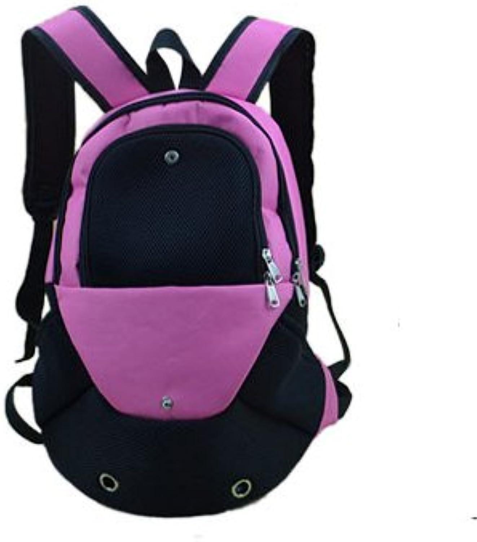 Dog Backpacks Pet Backpack Cat Bag Dog Bag Out Pack Travel Portable Backpack Schoolbag Breathable Mesh Cloth Outcrop Chest 14  35  40Cm