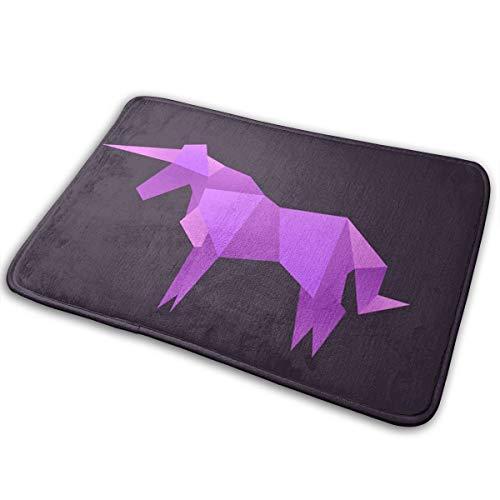 hdyefe Origami Unicorn Animals Logo Vector Alfombras/tapetes/tapetes Suaves/Lisos para escaleras Piso de Inodoro Dormitorio Sala de Estar baño Cocina decoración del hogar 40x60cm