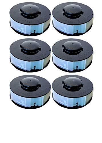 6 Spulen passend für GC-ET 4530 Rasentrimmer Fadenspulen Ersatzfadenspulen