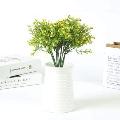 Yodosun Green Plastic Grass Plant Artificial Flower babysbreath Wedding Home Christmas Decoration Party Office Flower- Fake Succulents- Fake Flowers -30