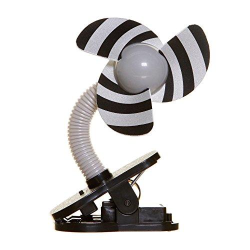 DREAMBABY™ Stroller Fan - Ventilateur à Clipser de Poussette (Couleur: Noir/Gris)