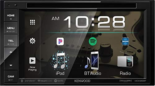 Kenwood Ddx Double DIN SiriusXM Ready Bluetooth In-Dash DVD/CD/Am/FM Car Stereo Receiver W/ 6.2' Touchscreen