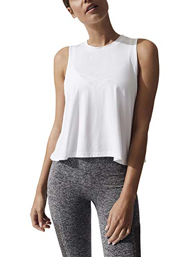 Bestisun Workout Crop Tops Athletic Tank Tops Crop Top Workout Shirts Gym Tops Summer Exercise Clothes for Women White S
