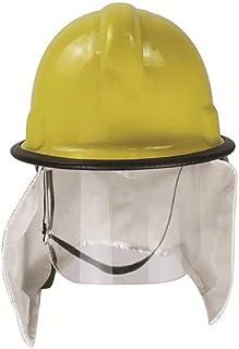 Romacci Capacete de resgate de bombeiro Boné de segurança com isolamento contra incêndio em folha de alumínio xale PC capa...