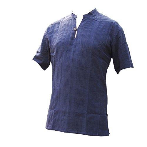 PANASIAM Shirt Ben, Blue, L, Shortsleeve