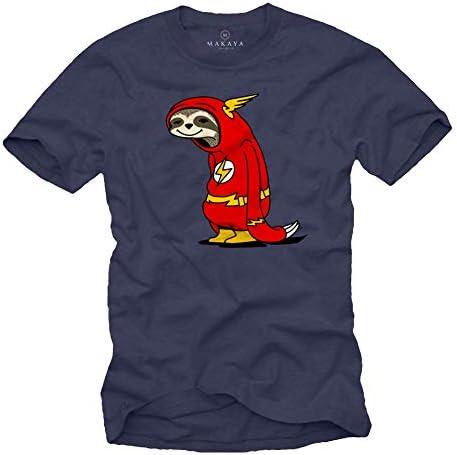 MAKAYA Camiseta Divertida Gym - Flash el Perezoso - T-Shirt Manga Corta para Hombre