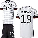 adidas UEFA Fußball DFB Deutschland Heimset EM 2020 Home Kit Trikot Shorts Herren Waldschmidt 19 Gr S