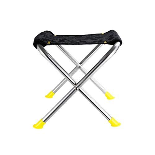Trein Kruk, Portable makkelijk op te bergen Folding Stap Kruk Tuinstoelen Afmetingen: 25 * 26cm Black Camping Stool Barbecue Kruk (Color : Black)