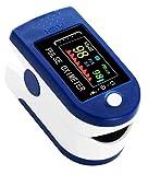 Pulsioximetro Oximetro de Pulso Pulsometro Monitor de Oxigenación Sanguínea SpO2 Latidos por Minuto con Pletismografía