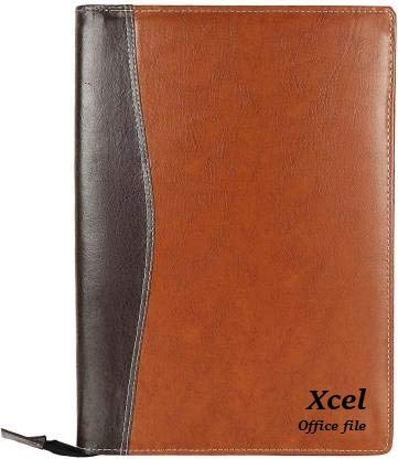 Xcel Leatherette Material Professional File Folders for Certificates, Documents Holder with 20 Leafs (Size-B4, Color: Mix Brown)_B05