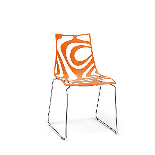 Scab Set 2 Design Wave Chaise Pied traîneau Orange-Transparent