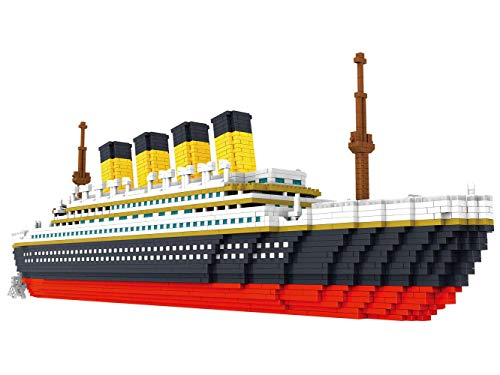 SKAJOWID Bloque De Construcción, Bloque De Construcción Large Titanic Model Building Block Set 1860 + Pcs Nano Mini Blocks DIY Toys, 3D Puzzle DIY Educational Toy, Adecuado para Niños
