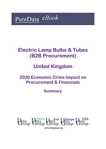 Electric Lamp Bulbs & Tubes (B2B Procurement) United Kingdom Summary: 2020 Economic Crisis Impact on Revenues & Financials (English Edition)