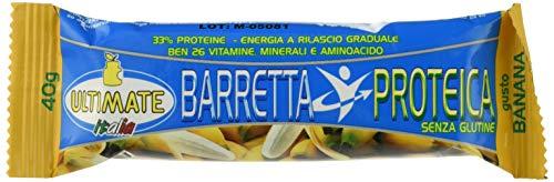 Barretta Proteica – Barretta Con Il 33% Di Proteine - Con Vitamine, Minerali E Aminoacidi – Ideale Nella Dieta Per Il Potere Saziante E Per Appagare La Voglia Di Dolce - Gusto Banana - Ultimate Italia