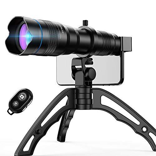 Apexel Handy-Kamera-Objektiv-Set, 36-faches Teleobjektiv-Set mit Mini-Stativ und Fernauslöser für iPhone X/XR/XS, Samsung Galaxy, Huawei und die meisten Smartphones