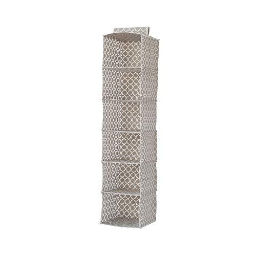 Compactor, Etagère souple, Beige et Blanc, Dimensions: 30 x 30 x H.128 cm, RAN7471