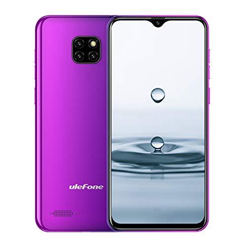 Günstige Smartphones, Ulefone Note 7 Handy ohne Vertrag Triple Kamera DREI Kartensteckplatz 6,1 Zoll In-Cell Wassertropfen Bildschirm 16GB ROM 3500mAh Akku, Dual SIM Android 8.1 Handy - Twilight