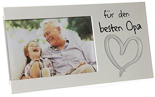 Bada Bing Bilderrahmen Fotorahmen Für Den Besten Opa 25 x 13 Herz Geschenk Erinnerung Liebe Weiß Edel 14