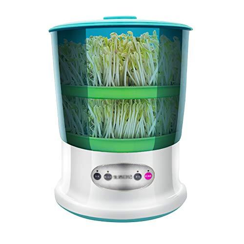 QQSS Sojasprossen Maschine, Keimschalen für Sprossen, Automatischer Bewässerungssamen Anbau von Getreidewerkzeug Samen Sprossen, Vier Jahreszeiten Modus