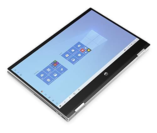 "HP - PC Pavilion x360 14-dw1001sl Convertibile, Intel Core i3-1115G4, RAM 8 GB, SSD 256 GB, Grafica Intel UHD, Windows 10 Home, Schermo Touch 14"" FHD IPS, Lettore Impronte Digitali, USB-C, Argento"