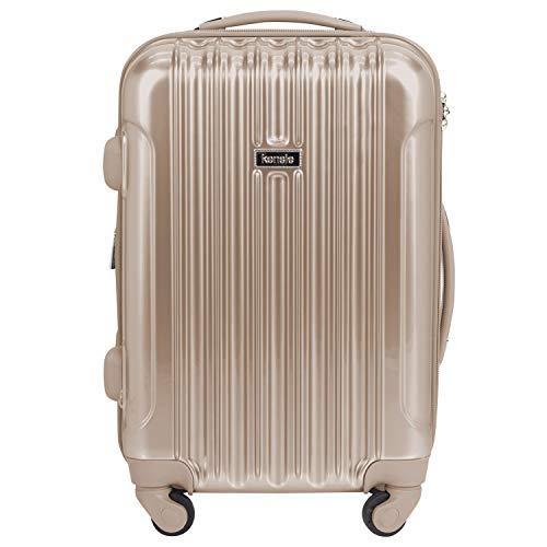 kensie 20' 'Alma' Carry-On TSA-Lock Spinner Luggage, Pale Gold