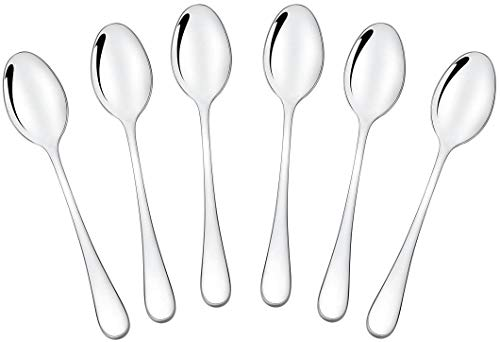 yasheng Mini 18/10 Stainless Steel Bistro Spoon 125 cm 49 Inch Set of 6