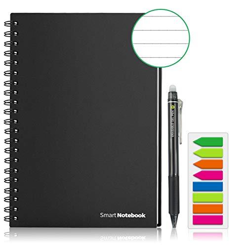 GUYUCOM Cuaderno Digital, Cuaderno Reutilizable Inteligente A5 Adaptadas para Escaneo a PDF Mediante APP Incluye Lápiz y Micro paño Borrables para Borrar y Reutilizar el Portátil