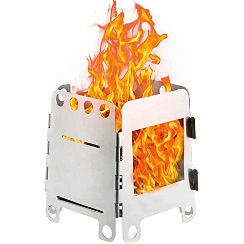 WLQWER Estufa de Camping Cocina Plegable Estufas de Campamento Horno portátil Estufa de Tienda Cocina al Aire Libre Acero Inoxidable Ligero Campamento Picnic Barbacoa Estufa de Viaje