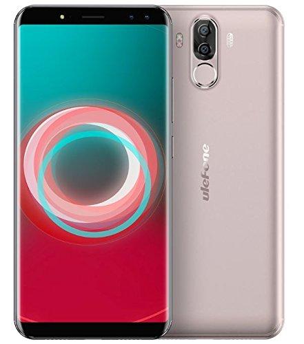 Ulefone Power 3s - 6,0 Zoll FHD (18: 9 Verhältnis) Corning Gorilla Glas 4 Bildschirm Android Smartphone, Octa Core 2.0GHz 4GB + 64GB, HiFi Gesichtserkennung, Quad-Kameras 6350mAh Batterie - Gold
