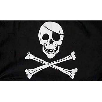 90cm x 60cm Pirate Bandana Skull Crossbones 3ft x 2ft Flag X Banner Decoration