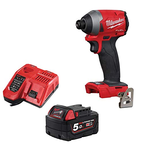 Milwaukee M18FID2-0 18v M18 Li-ion Fuel GEN 3 Impact Driver 5Ah Battery Charger