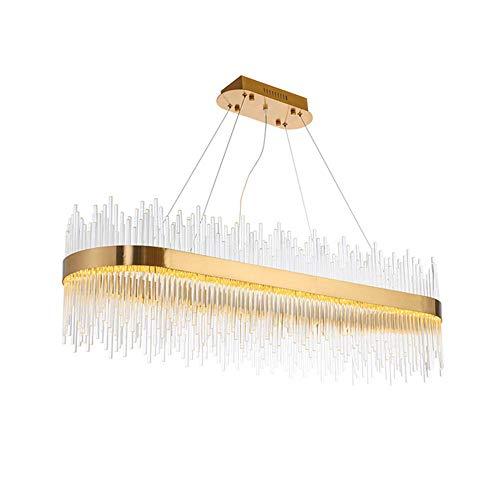 Light-GYH moderne led-plafondlamp, kristallen kroonluchter, moderne plafondlamp, eetkamer, badkamer, slaapkamer, woonkamer, plafondlamp, 40 inch