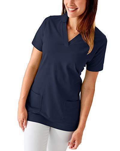 CLINIC DRESS Longshirt Damen Shirt mit 60% Baumwolle Navy 38/40